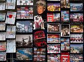 Souvenir postcard stall in Central London