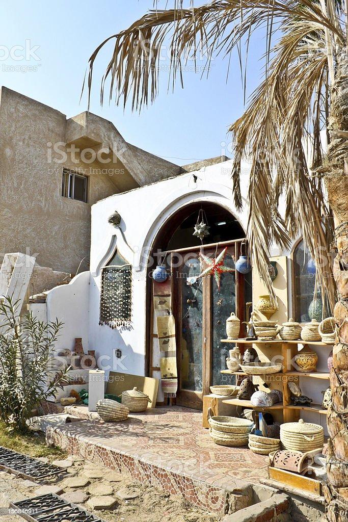 souvenir shop in Dahab, Egypt stock photo