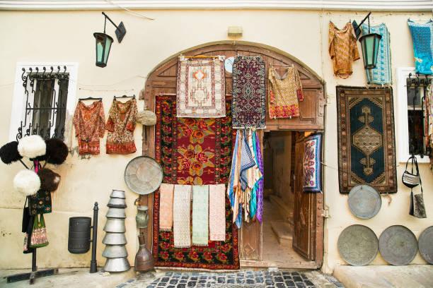 Souvenir shop in Icheri Sheher (Old Town) of Baku, Azerbaijan. stock photo