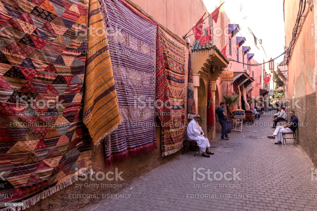 souvenir shop in Marrakesh stock photo
