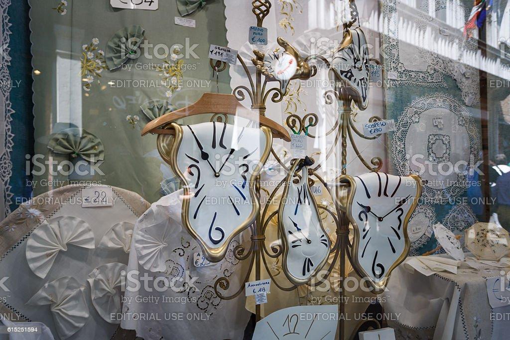 Souvenir shop in Venice stock photo