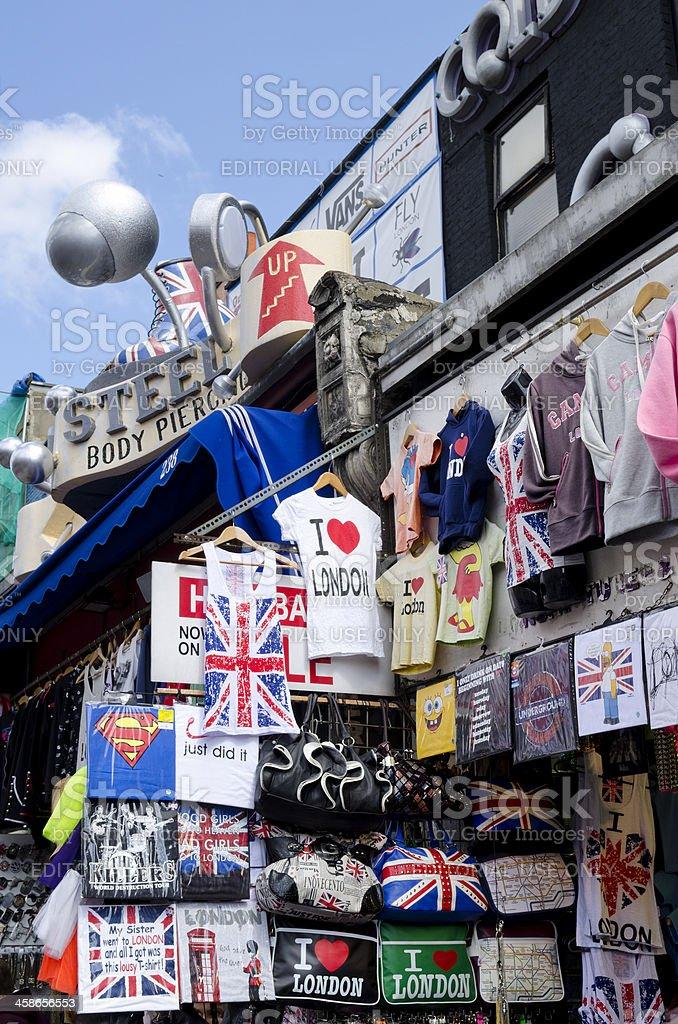 Souvenir shop on Camden High Street, London stock photo