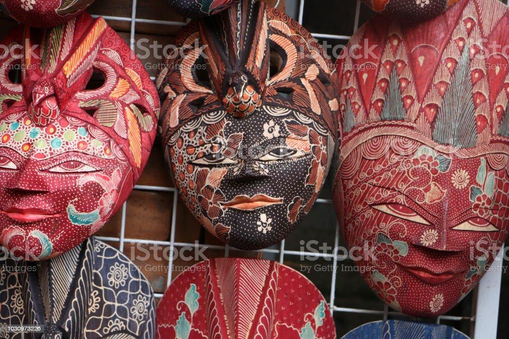 Souvenir Shop Selling Handicrafts Of Bali At Ubud Markettraditional