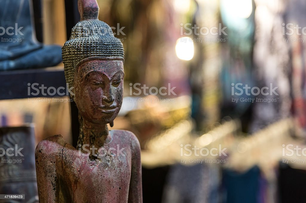 Souvenir Statue in a market of Siem Reap, Cambodia royalty-free stock photo