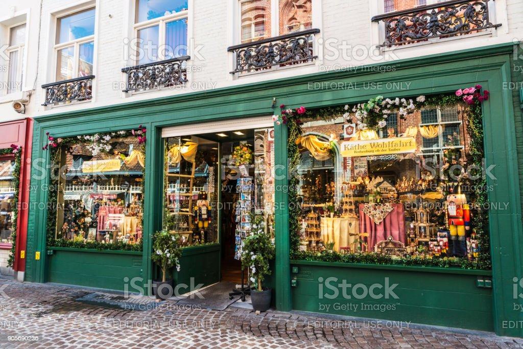 Boutique de souvenirs à Bruges, Belgique - Photo