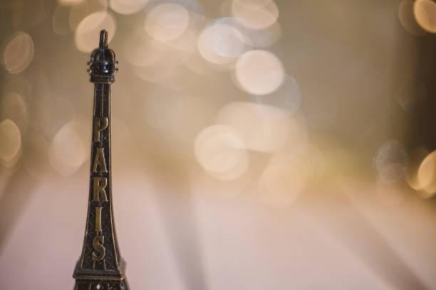souvenir travel figurine eiffel tower tourism memory gift paris france stock photo