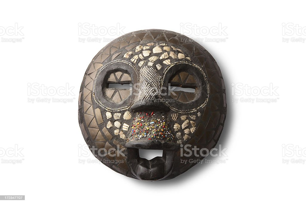 Souvenirs: African Mask stock photo
