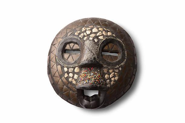 souvenirs: afrikanischer maske - afrikanische masken stock-fotos und bilder