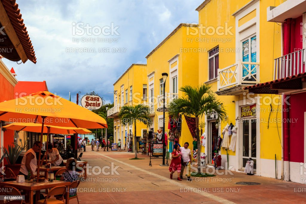 Souvenirs, Coffee Shops, Tourist and a Lots of Sunshine. stock photo