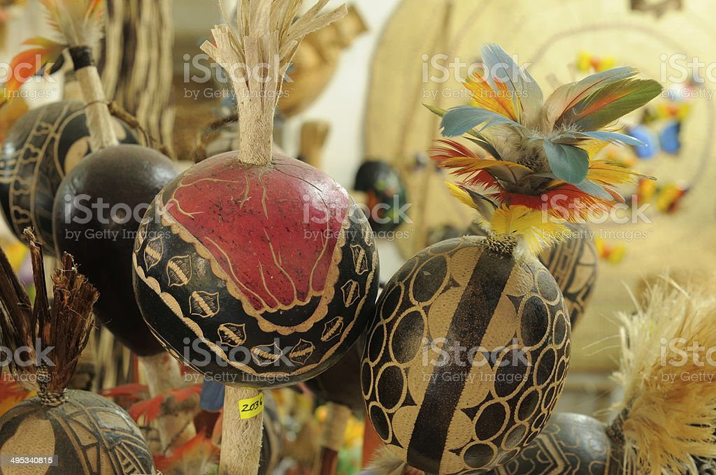 Souvenirs from Amazonia stock photo