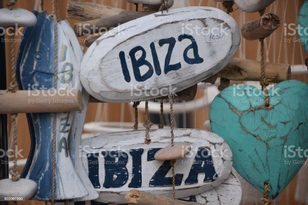 Souvenirs from Ibiza royalty-free stock photo