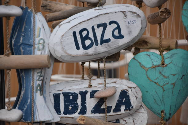 Souvenirs from Ibiza stock photo