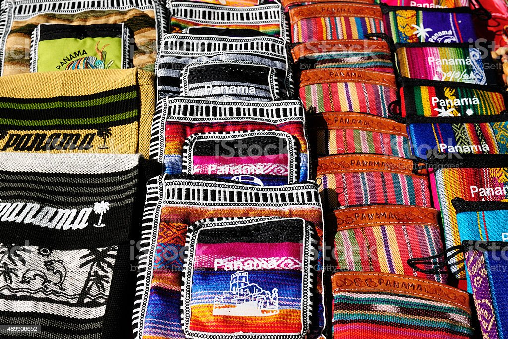 Souvenirs from Panama stock photo