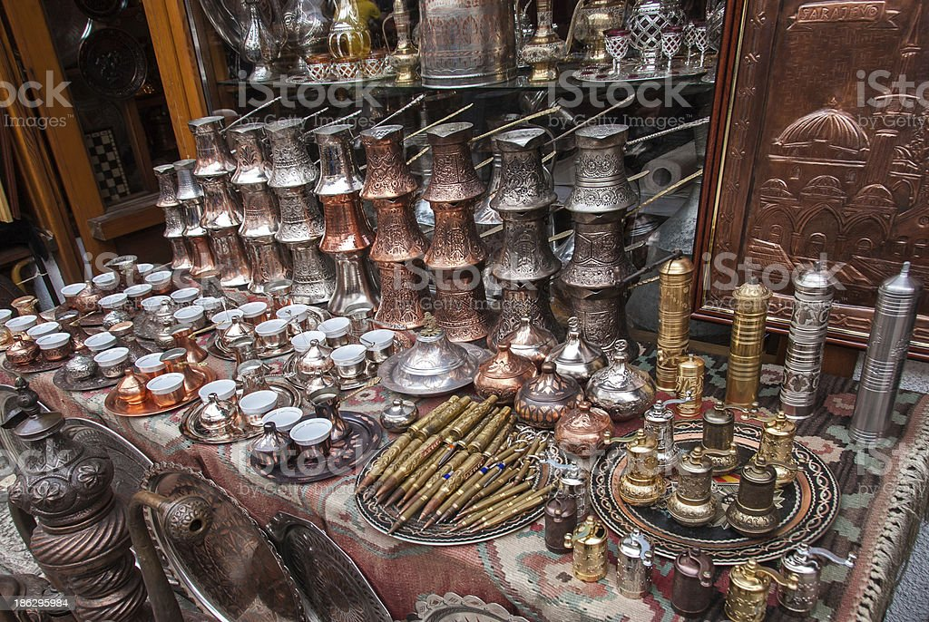 Souvenirs from Sarajevo, Bosnia and Herzegovina stock photo