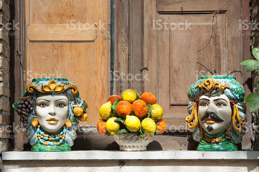 Souvenirs from Sicily stock photo