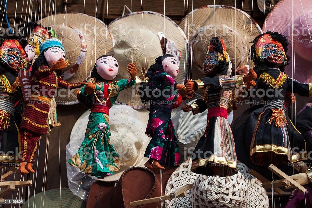 Souvenirs in Kathmandu stock photo