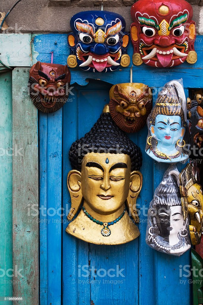Souvenirs in Kathmandu stock photo
