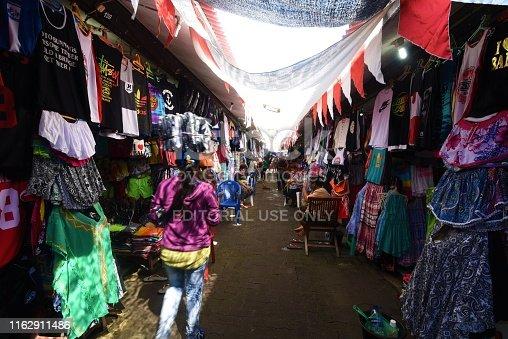 BALI - INDONESIA, AUGUST 16,2016 : Souvenirs of Bali at the local souvenir market in Bali, Indonesia.