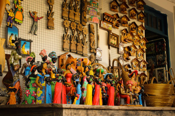 Souvenirs of Olinda, 2016 Souvenirs sold in Olinda, Pernambuco, Brazil craft product stock pictures, royalty-free photos & images