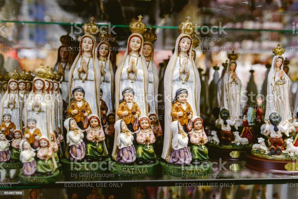 Souvenirs Of Our Lady Of Fatima Fatima Portugal Stock Photo