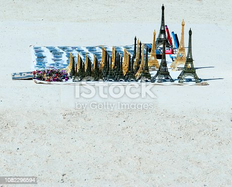 Souvenirs of the Eiffel Tower in Paris, France
