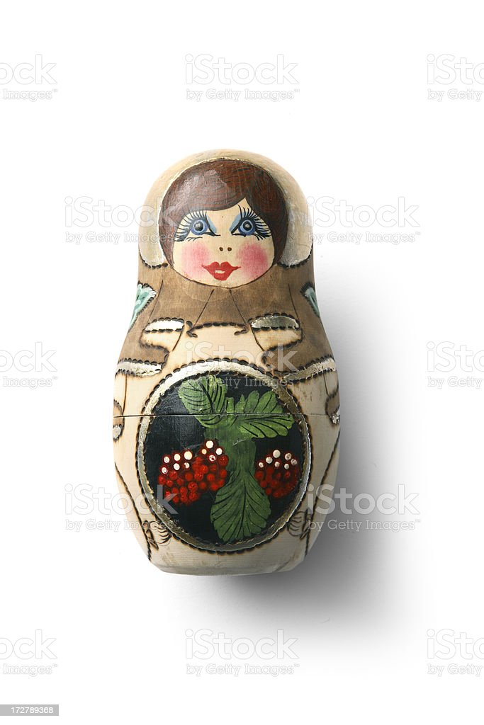 Souvenirs: Russian Nesting Doll royalty-free stock photo