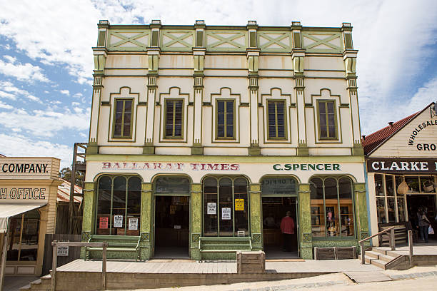 Sovereign Hill Building on Main St stock photo