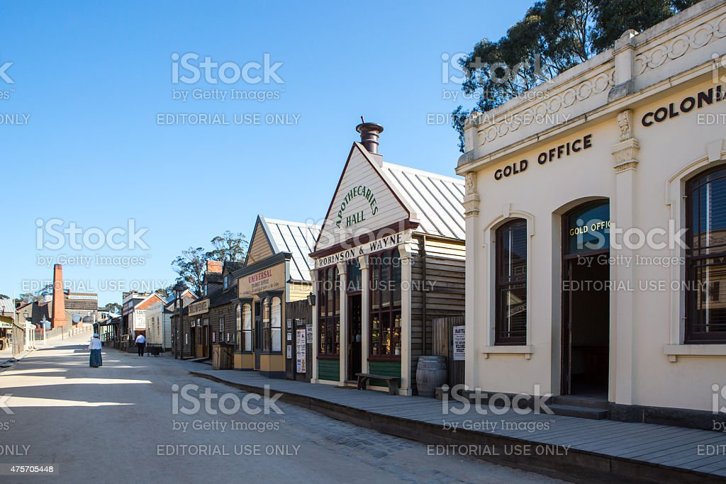 Sovereign Hill Main Street stock photo