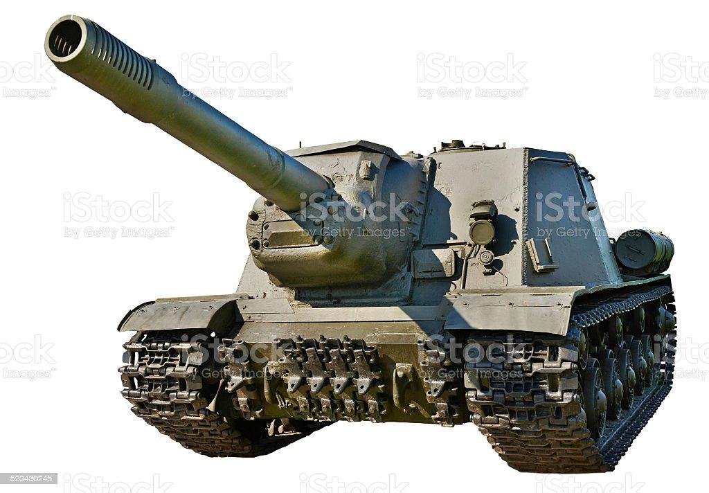 Soviet anti tank self-propelled unit SU-152 stock photo