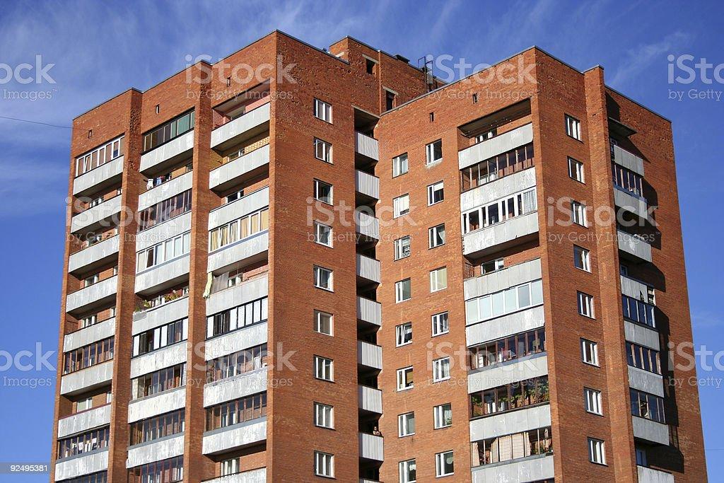 soviet apartment building royalty-free stock photo
