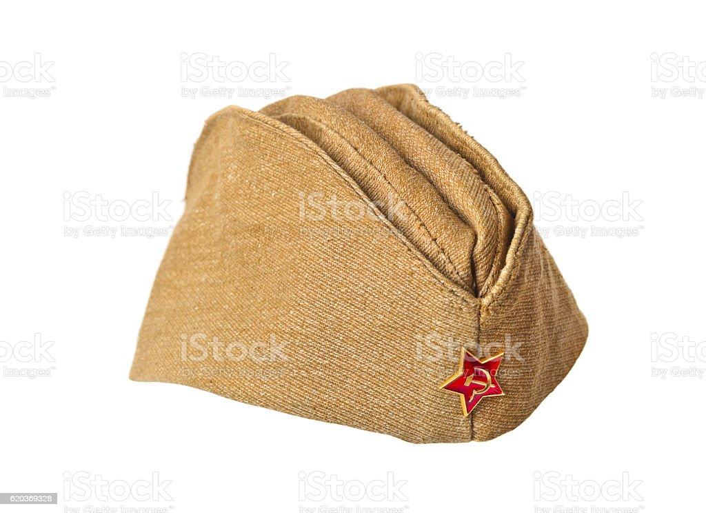 Exército Soviético soldados Apanhadoras-tampa foto de stock royalty-free