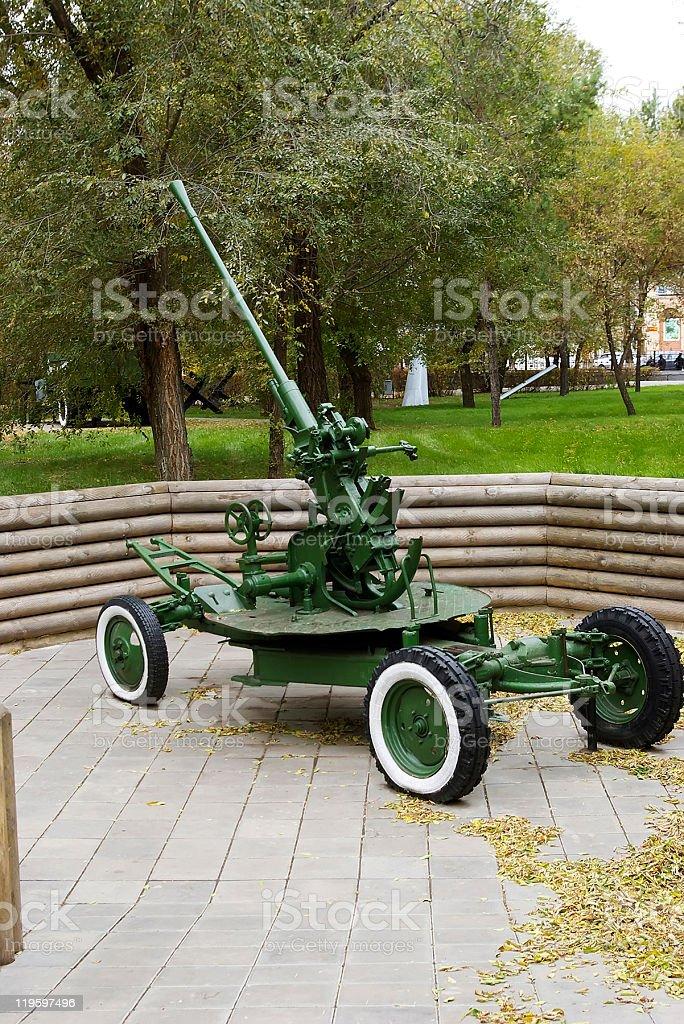 Soviet Automatic 37mm Antiaircraft Gun Model 1939 Stock