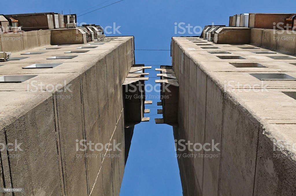 Soviet Building - Detail royalty-free stock photo
