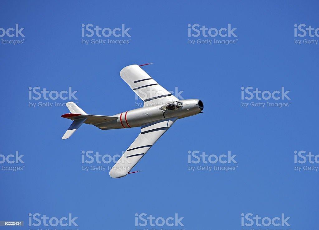 Soviet era MiG-17 jetfighter royalty-free stock photo
