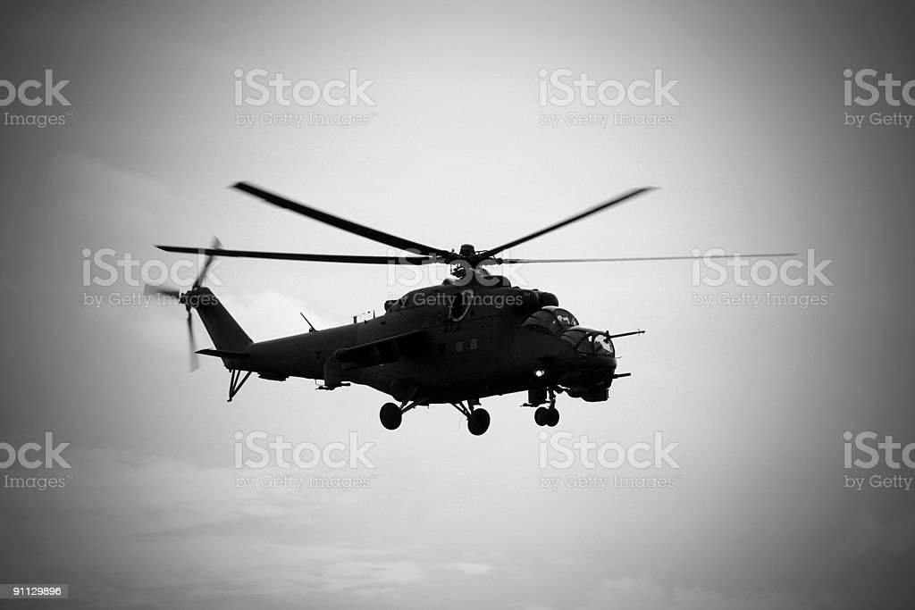 Soviet helicopter Mi-24 Hind royalty-free stock photo