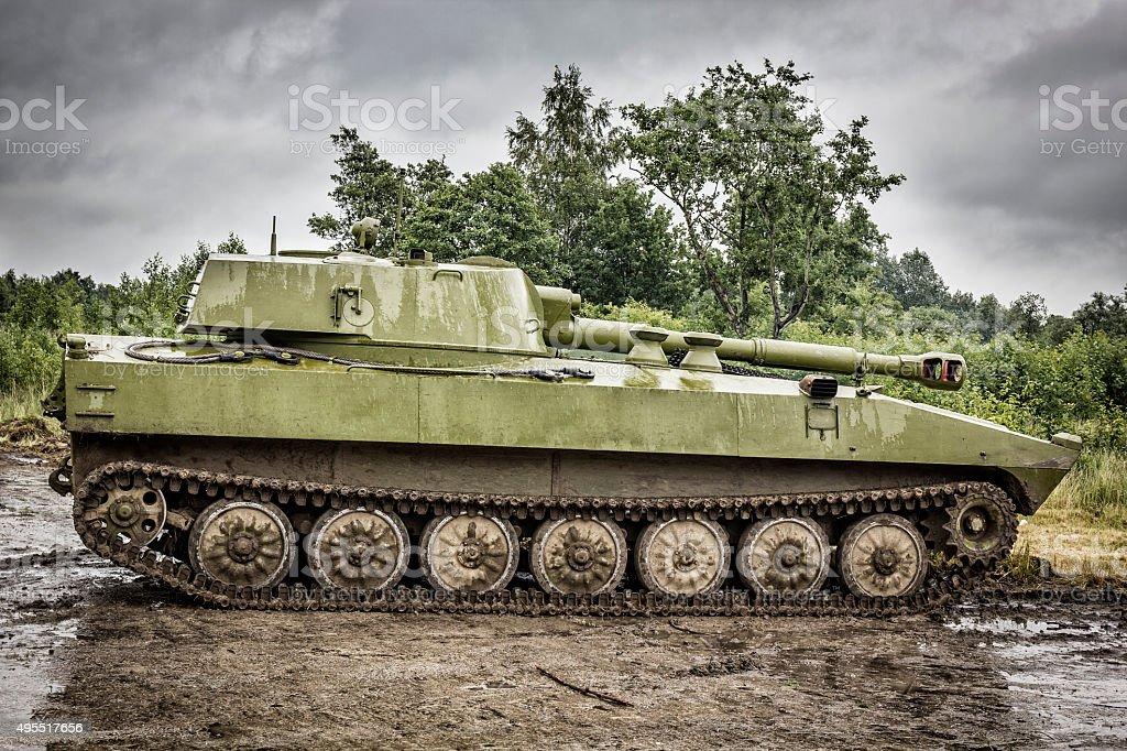 Soviet howitzer 2S1 Gvozdika stock photo