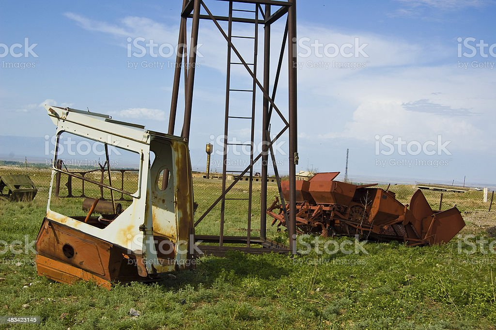 Soviet Kolkhoze stock photo