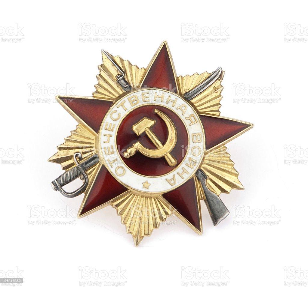 Soviet Medal royalty-free stock photo