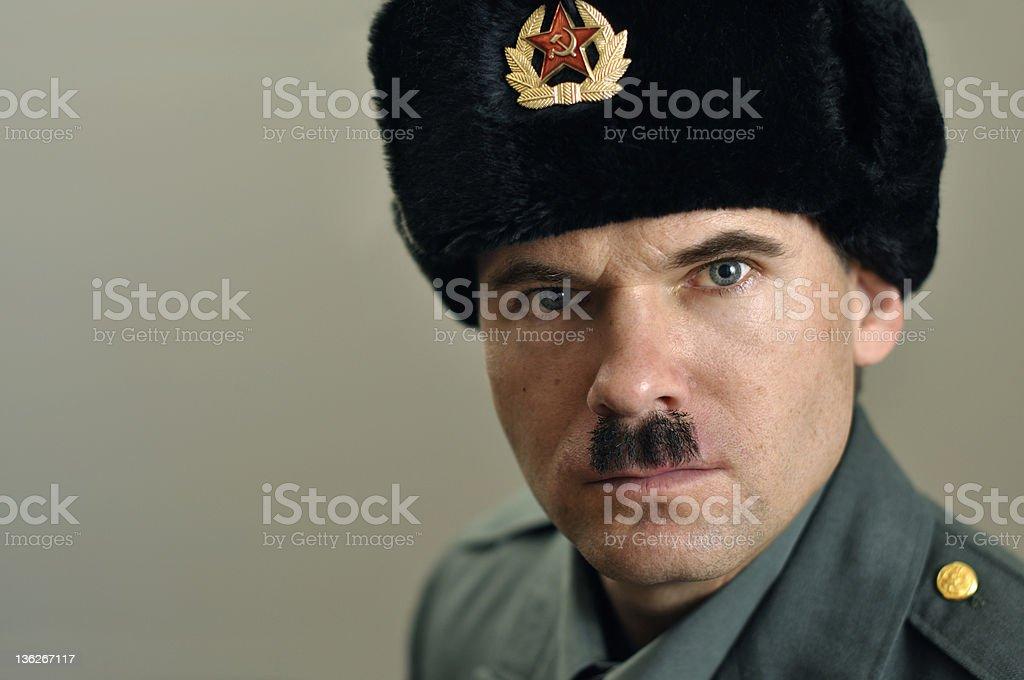 Soviet military officer stock photo