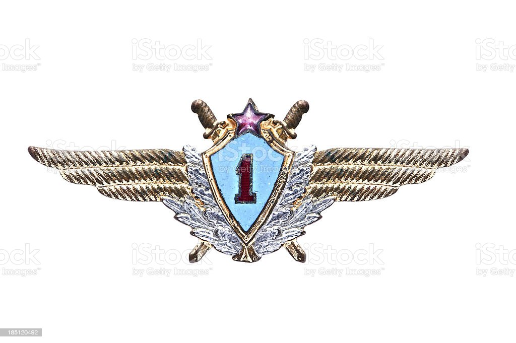 Soviet military pilot's Badge stock photo