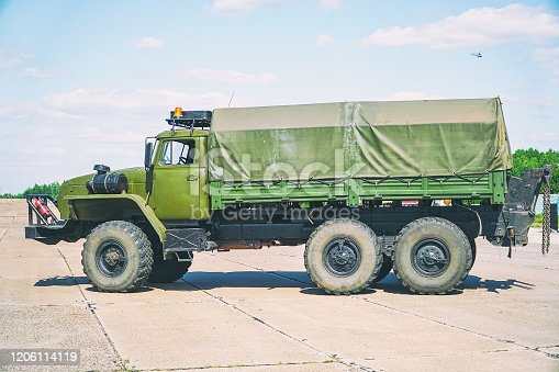 665295184 istock photo Soviet military vehicle for transporting soldiers 1206114119