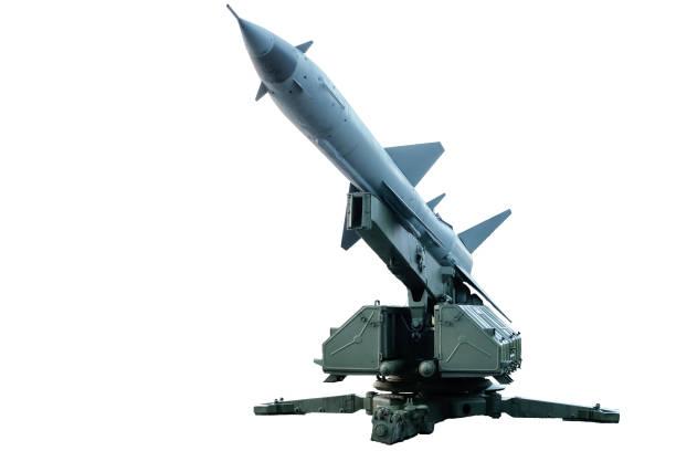 소련의 모바일 공중 방어 미사일 시스템 스톡 사진