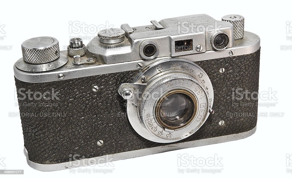 Soviet photocamera FED-NKVD stock photo