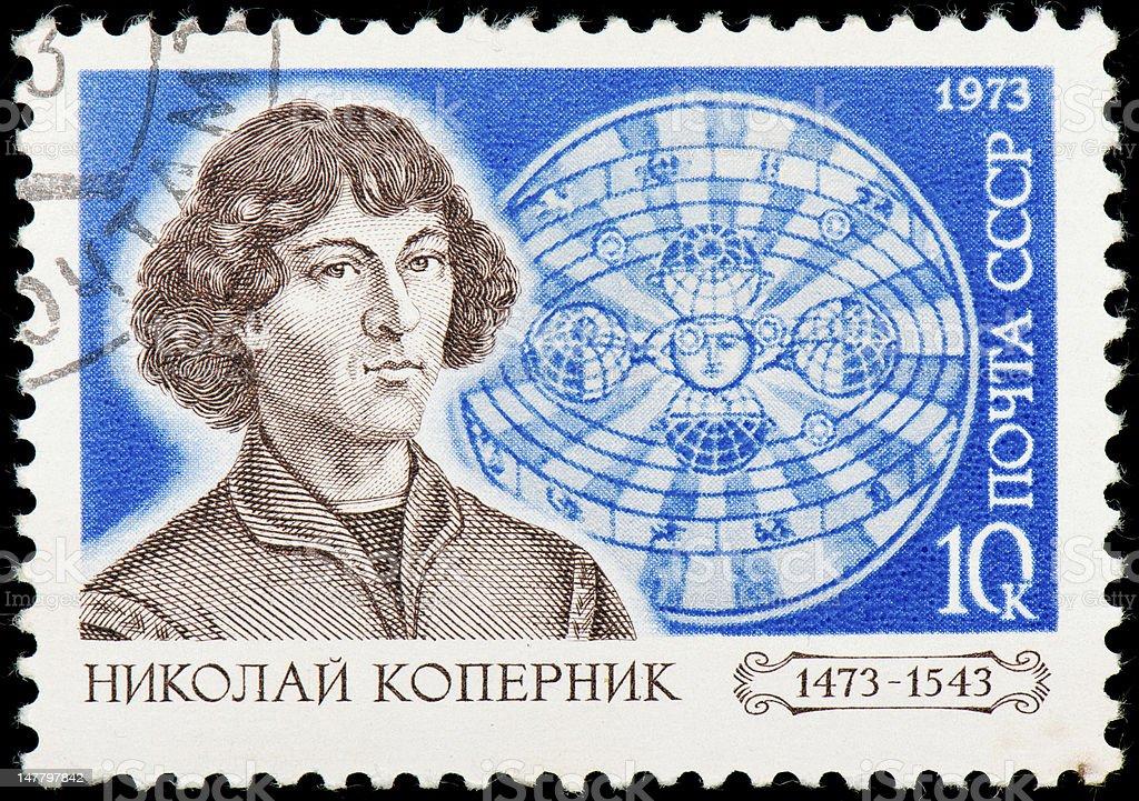 Soviet postage stamp dedicated to Nicolaus Copernicus stock photo