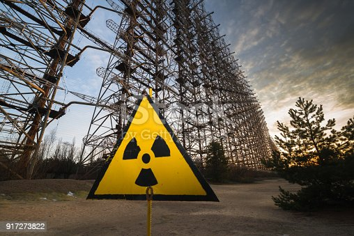 istock Soviet Radar System Duga near Chernobyl 917273822
