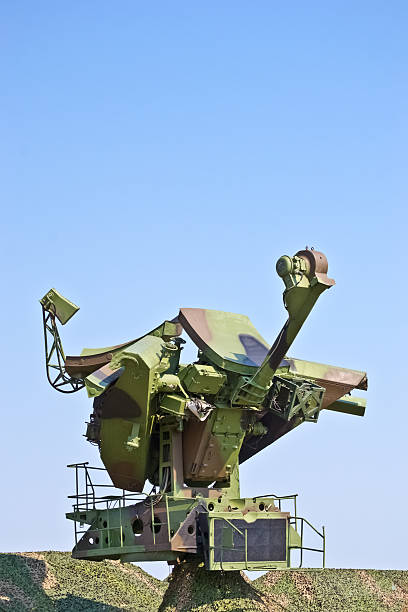 soviet radar with camouflage netting