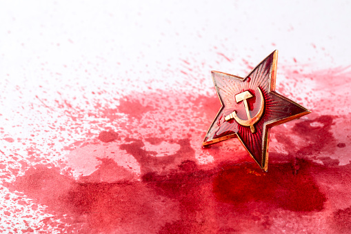Soviet Red Star Badge In Blood Stock Photo - Download Image Now - iStock