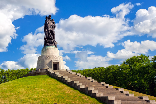 Soviet soldier monument at Treptow park, Berlin, Germany