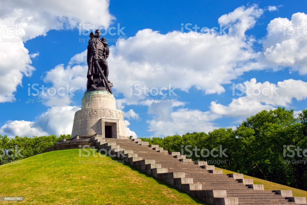 Soviet soldier monument at Treptow park, Berlin, Germany stock photo