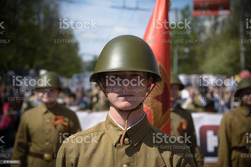 Soviet soldiers stock photo